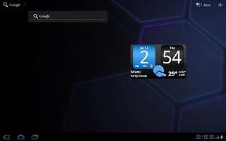 Screenshot of FlipClock AhMan BLUE 4x2