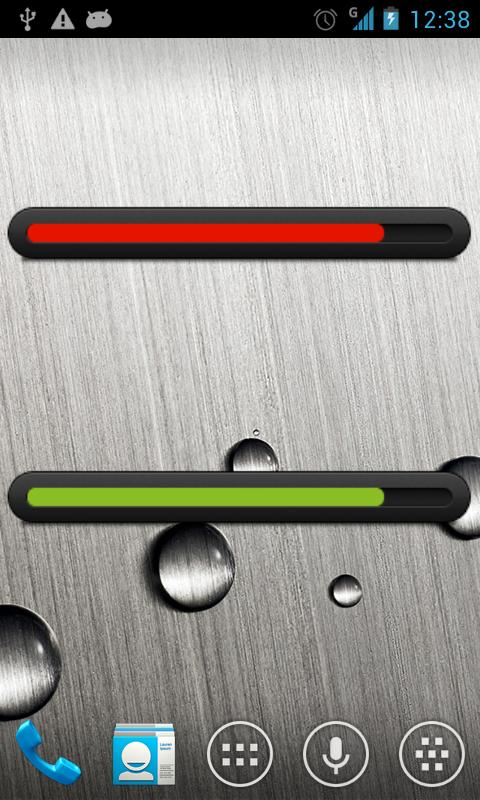 Battery bar uccw skin - screenshot