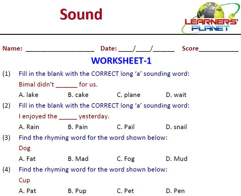 ... Phonics Worksheets Free. on free printable worksheet grade 1 english