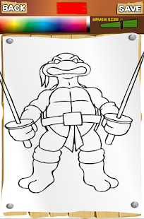 Ninja Coloring Pages Turtles