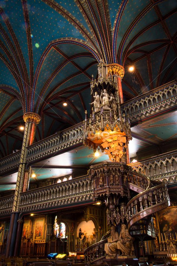 La chaire dans la Basilique Notre-Dame de Montréal by Michael Sharp - Buildings & Architecture Places of Worship ( montreal, pulpit, church, canada, cathedral, notre dame basilica of montreal )