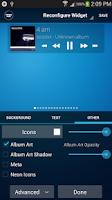 Screenshot of Poweramp Standard Widget Pack