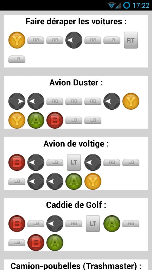 Cheat <b>codes</b> <b>Xbox</b> One - <b>Xbox</b> <b>360</b> - <b>GTA</b> <b>5</b> soluce, astuces ...