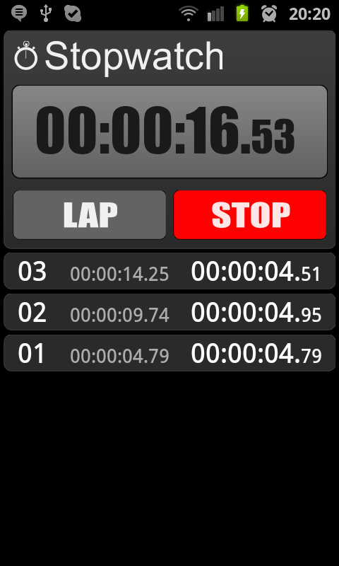 Stopwatch - screenshot