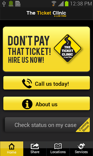 The Ticket Clinic Mobile App