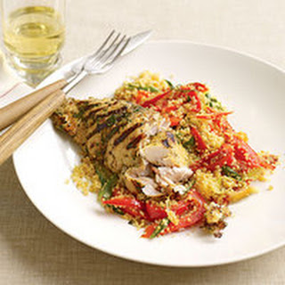 Citrus Fish with Bell Pepper Couscous