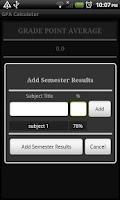 Screenshot of GPA Calculator