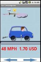 Screenshot of GPS Fuel Consumption