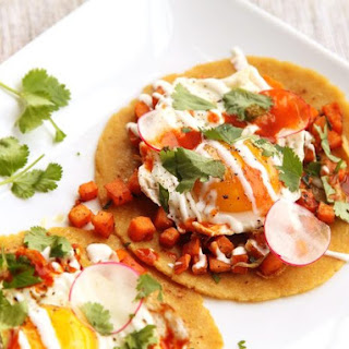 Sweet Potato, Sage, and Fried Egg Tacos