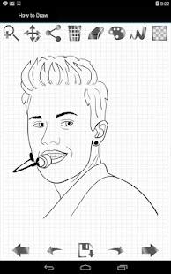 如何绘制Justin Bieber