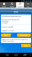 Screenshot of First American Bank Mobile