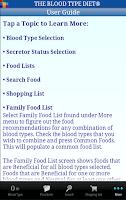 Screenshot of The Blood Type Diet®