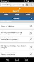 Screenshot of Fastt/Intérimaire