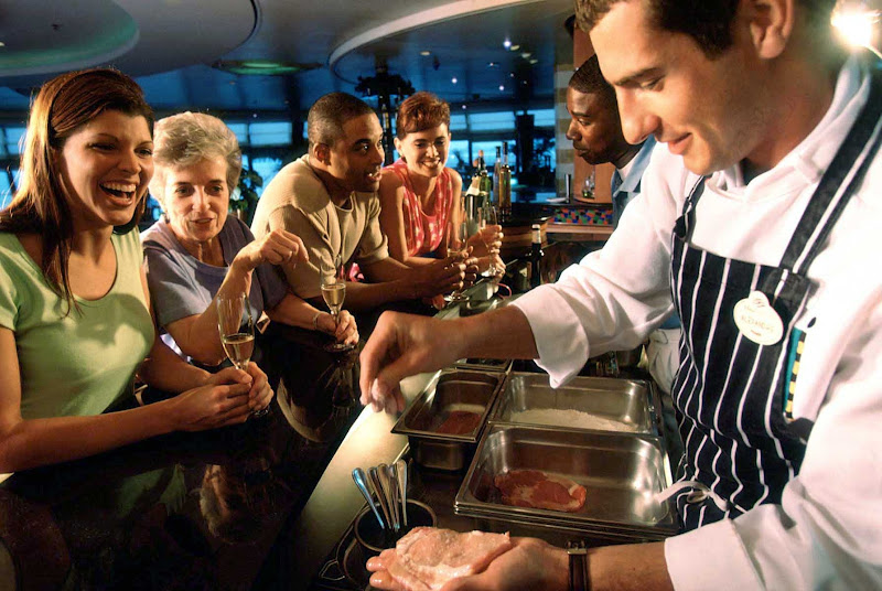 Watch your chefs in action in Palo's adults-only open kitchen aboard your Disney cruise.