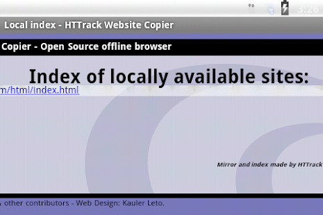 HTTrack Website Copier - screenshot thumbnail
