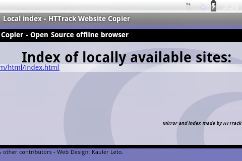 HTTrack Website Copier - screenshot
