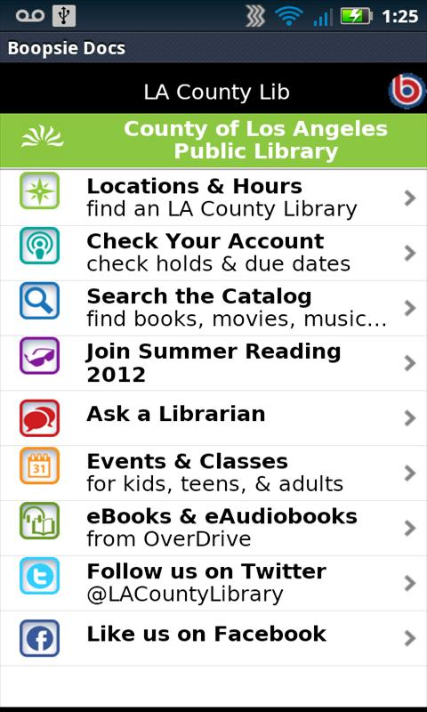 LACountyLib- screenshot