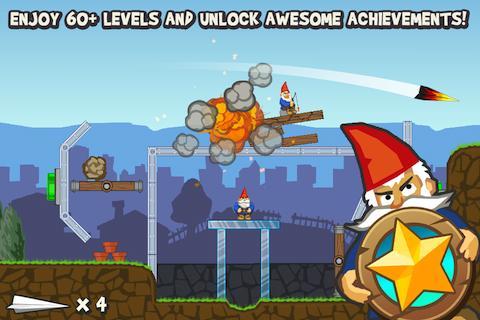 Paper Glider vs. Gnomes - screenshot