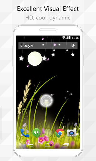 Dandelion Night Live Wallpaper