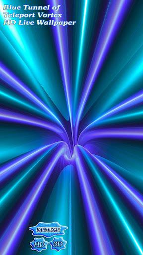 Blue Tunnel of Teleport Vortex