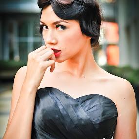 Monroe on Black Dress by Satyo Ariadi - People Portraits of Women