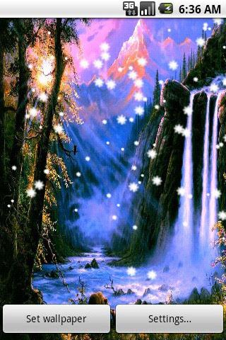 Download the 3d waterfall live wallpaper android apps on for Decor live beautiful app