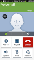 Screenshot of Voicemail