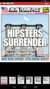 New York Post for Tablet - screenshot thumbnail