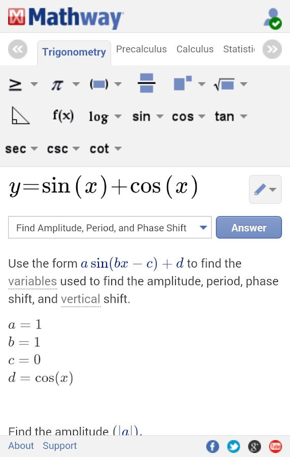 Mathway - screenshot