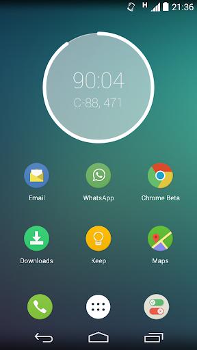 Decimal Time Clock Widget