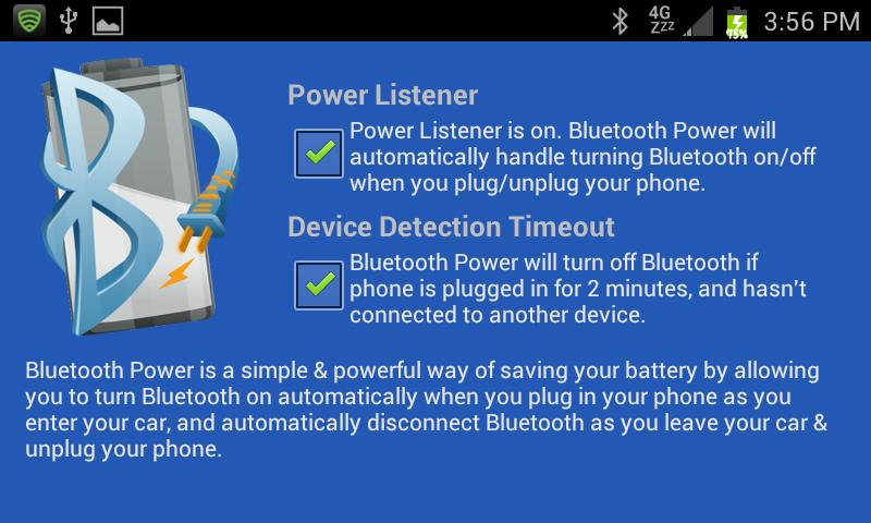 Bluetooth Power - screenshot
