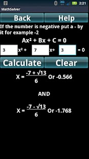 Math Algebra Solver Calculator- screenshot thumbnail