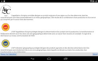 Screenshot of Les produits de saison