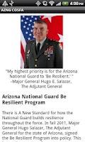 Screenshot of AZNG Be Resilient Program