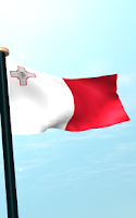 Screenshot of Malta Flag 3D Free Wallpaper