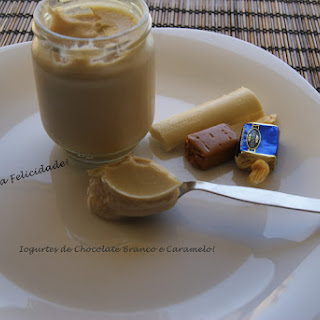 White Chocolate and Caramel Yogurts.