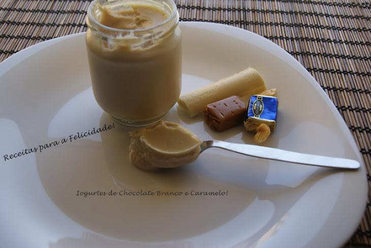 White Chocolate and Caramel Yogurts Recipe