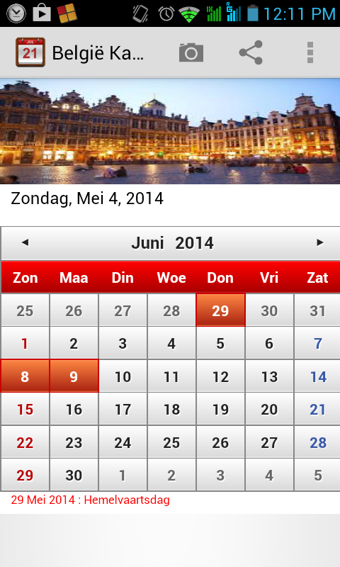 belgi kalender 2014 android apps on google play. Black Bedroom Furniture Sets. Home Design Ideas