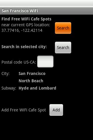 San Francisco Free WiFi- screenshot