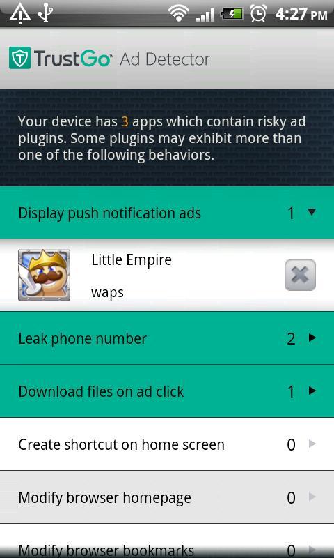 TrustGo Ad Detector- screenshot