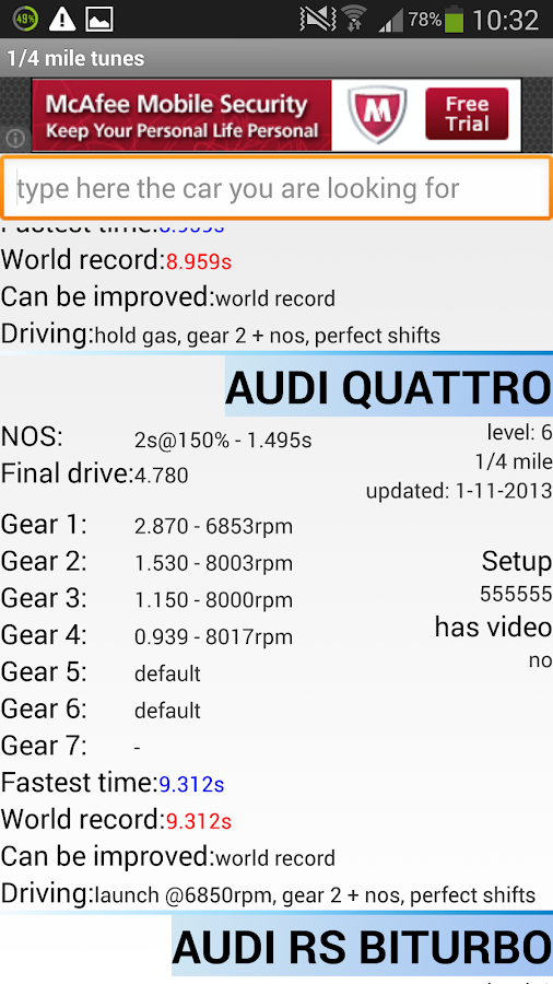Drag Racing Tunes - screenshot