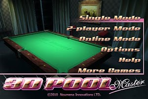 Screenshot of 3D Pool Master Pro