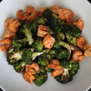 Grilled Broccoli and Shrimp Salad.