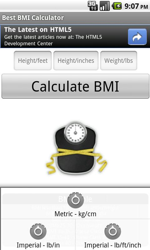 Best BMI Calculator - screenshot