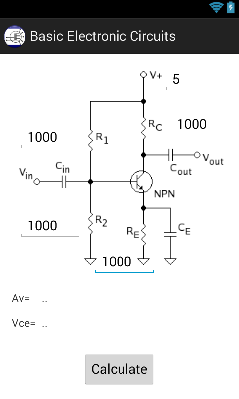Basic Electronic Circuits Calc- screenshot