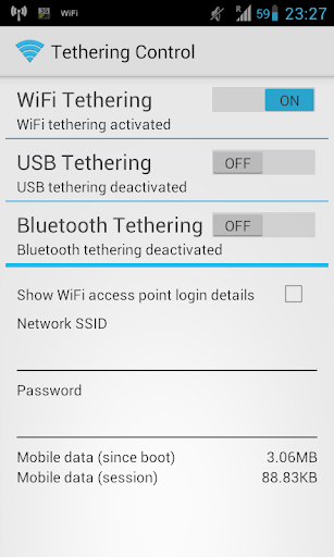 Tethering Control