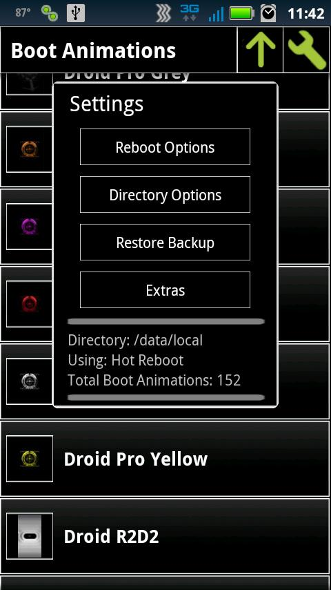 Boot Animation Manager - screenshot