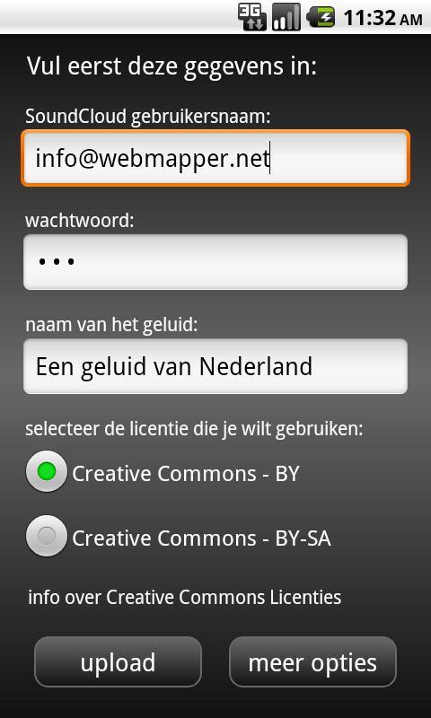 Geluidenjager- screenshot