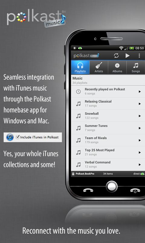 Polkast Music - iTunes to go - screenshot