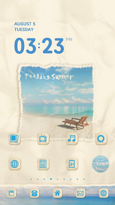 Summer dodol launcher theme - screenshot